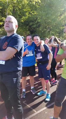 Vor dem Start: Marc (10km) und Markus (5km)