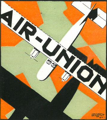 Air Union pub by Leonard BRIDGMAN, 1925