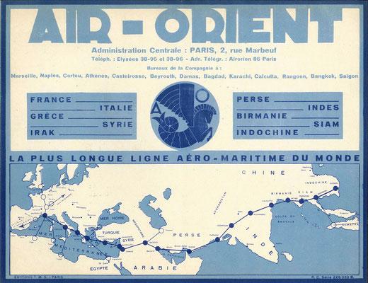 AIR-ORIENT fin 1930