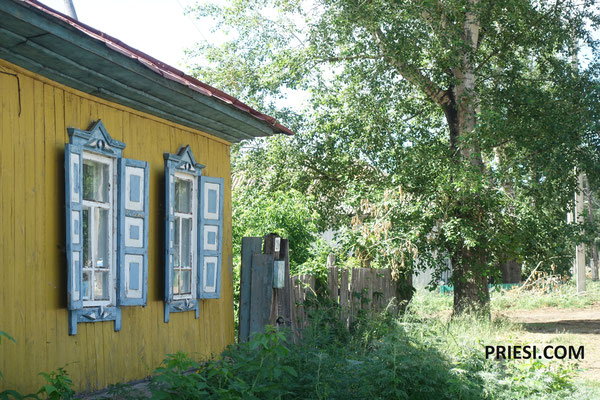 Nette kleine Ortschaften auf dem Weg