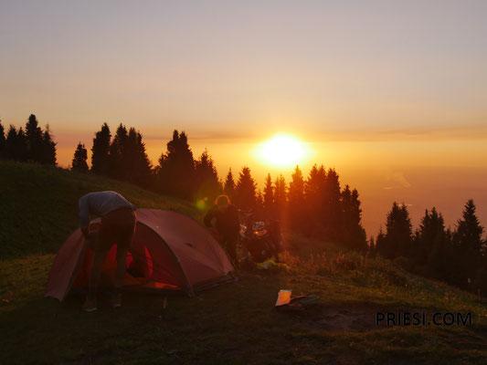 Toller Sonnenuntergang oben