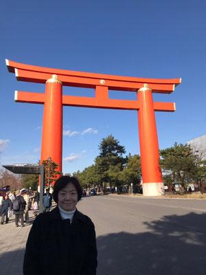 改元の特別な年。京都平安神宮初詣祈願。