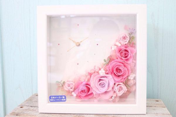 時計にお花を添えて上品に、でも可愛く。