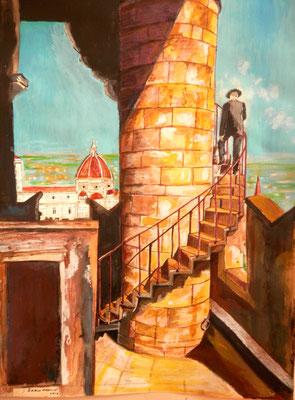 veduta del duomo di Firenza, omaggio agli Alinari