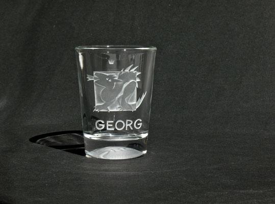 GEORG II, mit Krone. der den Drachen tötet.  ein sehr schöner Hochschnittt. ca 160