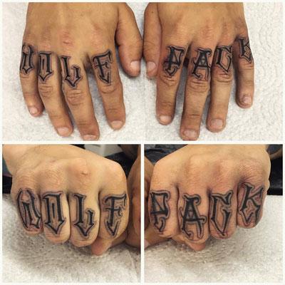 Finger Lettering Wolf Pack