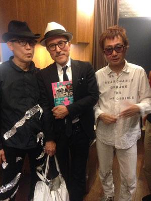 立花ハジメさん、高橋幸宏さん、中西俊夫さん、