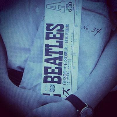 1966年7月2日のTHE BEATLESの日本武道館のA席のチケット(ラッキーな方ですね)!
