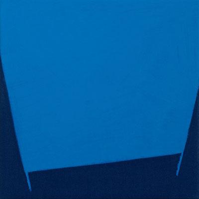Dunkelblauer Stoff, Pigment - Kobaltblau - 30 x 30 cm, 2006