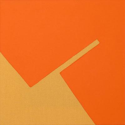 Ockerfarbener Stoff, Pigment - Cadmiumrotorange - 30 x 30 cm, 2006