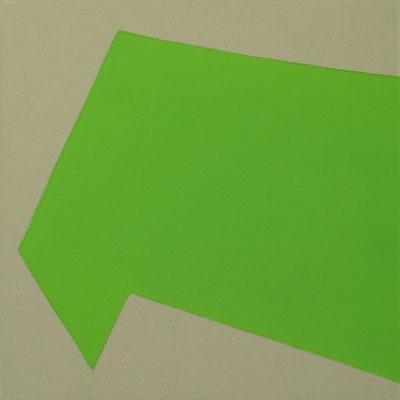 Graugrüner Stoff, Pigment - Cadmiumgrün, hell - 30 x 30 cm, 2006