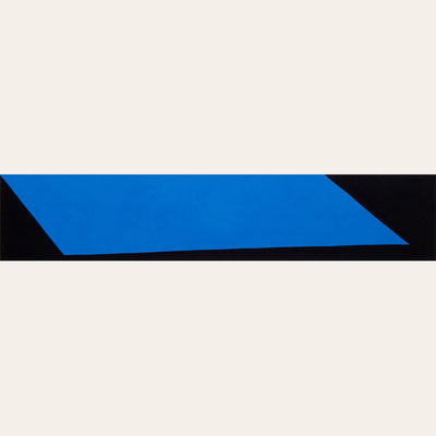 Dunkelblauer Stoff, Pigment - Kobaltblau, matt - 30 x 150 cm, 2006