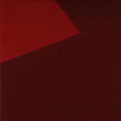 Roter Stoff, Pigment - Paliogenmarron - 30 x 30 cm, 2005