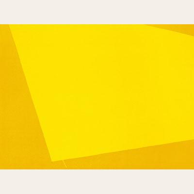 Gelber Stoff, Pigment - Wismutgelb - 90 x 120 cm, 1999