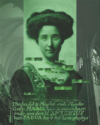 WOMAN IN GREEN [70 x 60cm]