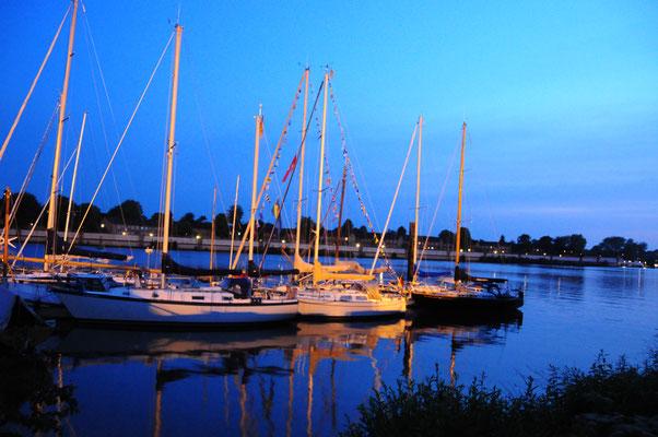 Ansegeln- nachts am Köhlfleet