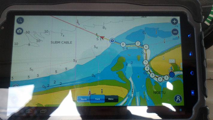 GPS Plotter mit Wegpunkten