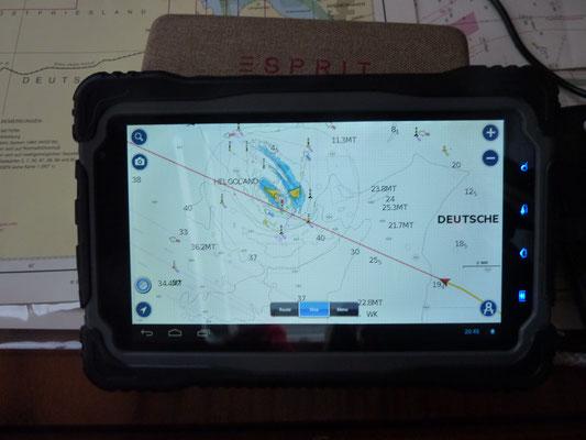 GPS Plotter mit Kurslinie