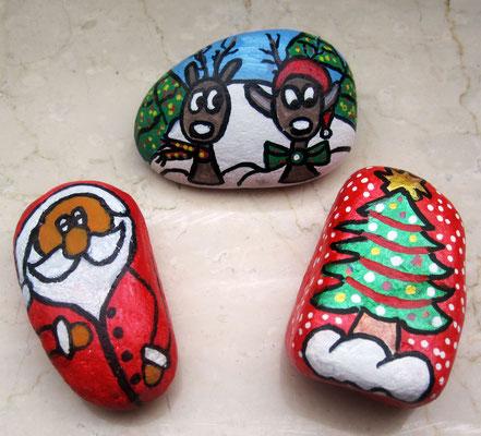 Weihnachtssteine handbemalt