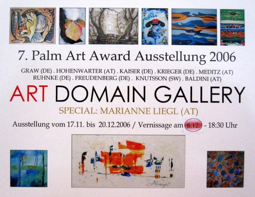 Flyer Art-Domain-Gallery Ausstellung Leipzig 2006