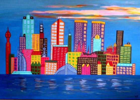 Großstadt im Farbenrausch