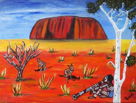 Ayers Rock, 40 x 30 cm, Acryl auf Leinwand