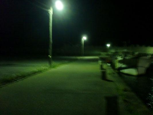 夜間の漁港の写真2