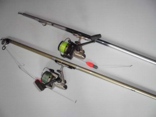 投げ釣り 竿とリール の写真