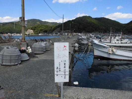 通漁港 立入禁止の写真1