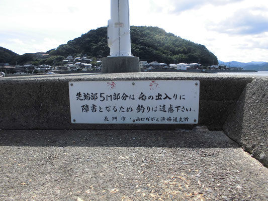 通漁港 釣り禁止の写真