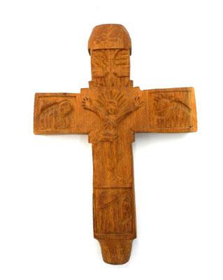 Holzkreuz handgeschnitzt Akazienholz-Giordanos Olivenholz