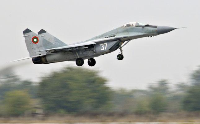 MiG-29 Fulcrum della BVS in seno alla forza armata sono anche presenti degli esemplari biposto UB.