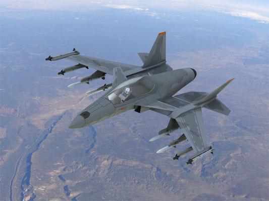"""SM-47 """"Super Machete"""" versione monoposto da attacco (foto: Stavatti Aerospace)"""