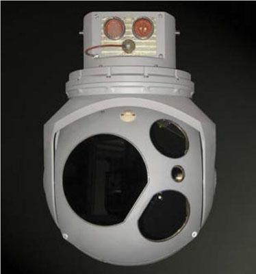 Il sistema ATOS asservito dai sensori installati sulla torretta. (©Leonardo)