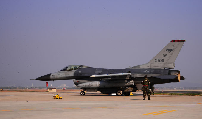 un F-16C Fighting Falcon del 36th Fighter Squadron della Osan AFB (Foto: USAF)