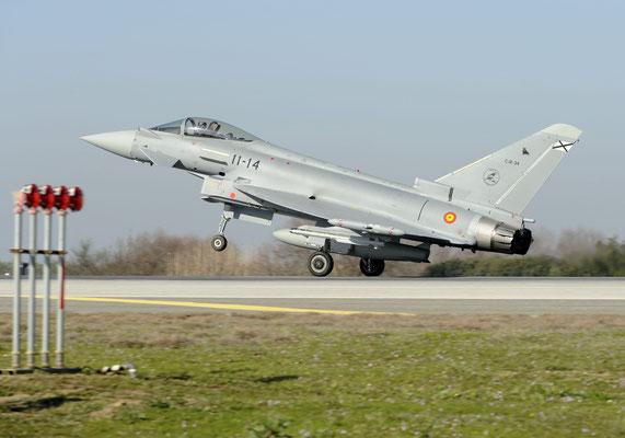"Eurofighter ""Typhoon"" di Morón (Foto:Ejército del aire)"