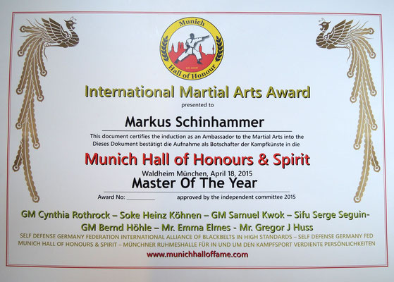wing chun hall of honour münchen