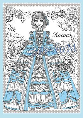 「Romantic Rococo Blue」