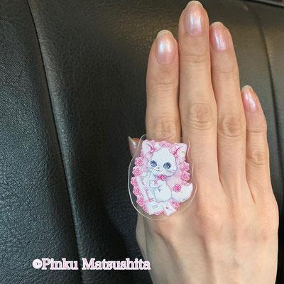 お姫様のための幸せの指輪(白猫リミィちゃんお手紙ver)着画