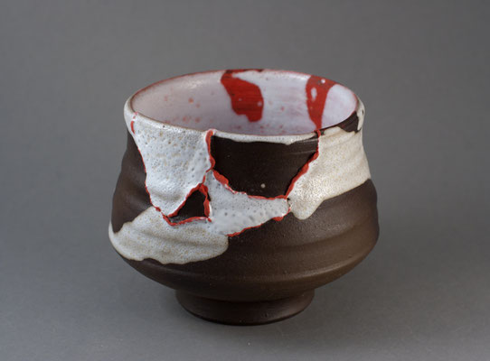 "Paul Fryman. Tea bowl ""Harlequin-tzugi"". SOLD"