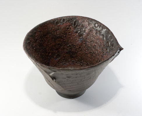 Paul Fryman. Carbon trap tea bowl. SOLD