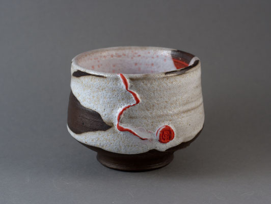 "Paul Fryman. Tea bowl ""Red line"". SOLD"