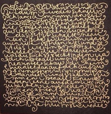 """Kunstkarte """"Schriftbild"""", 15 x 15 cm -> Onlineshop"""
