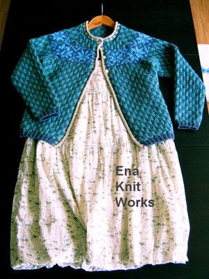 編み込み模様のカーディガン