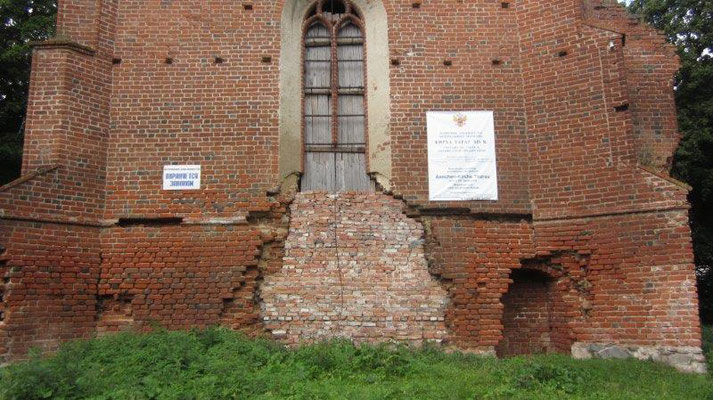Das Tharauer Gotteshaus hat die vergangenen 70 Jahre als Kasino, Silo und Kuhstall überstanden.
