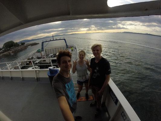 Auf der Fähre nach Montezuma