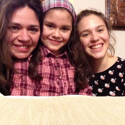 Beim letzten Abendessen mit meinen chilenischen Spanischlehrerinnen in der Schweiz