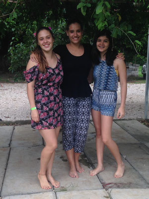 Mit Pia und ihrer Schwester bei der Abschiedsfeier