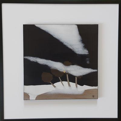 """Série """" les carrés"""" n°1 . Art contemporain, marqueterie . 400€"""
