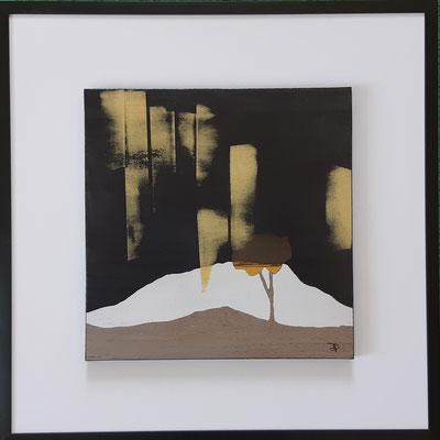 """Série """" les carrés"""" n°5 . Art contemporain, marqueterie . 400€"""